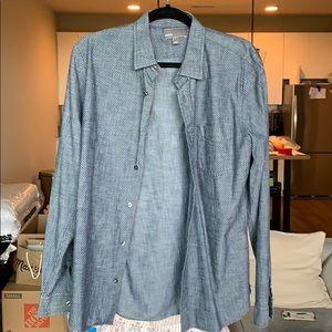 Vince men's button down denim shirt